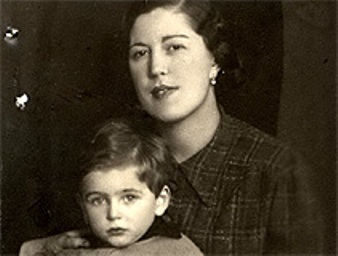 Olga Krausz and her son Imre